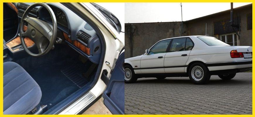 На аукцион выставили BMW 7 Series (E32) 1992 года,простоявшая в гараже 23 года, так и не дождавшись наследников