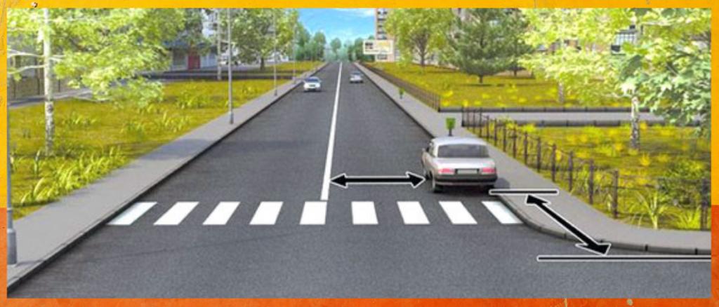 Билет №1 (Вопрос 12): В каком случае водителю разрешается поставить автомобиль на стоянку в указанном месте?