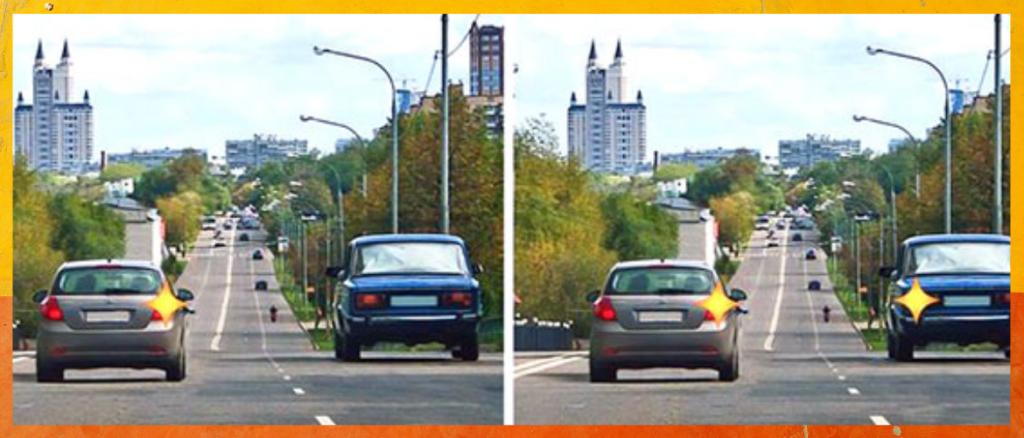 Билет ПДД №2 (Вопрос 8): Двигаясь по левой полосе, водитель намерен перестроиться на правую. На каком из рисунков показана ситуация, в которой он обязан уступить дорогу?