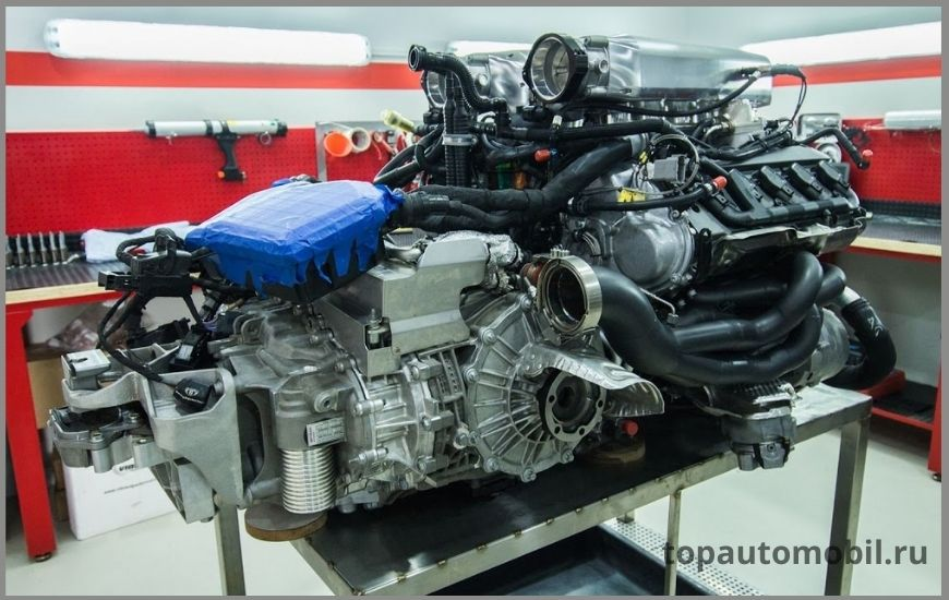 Двигатель Lamborghini 5.2