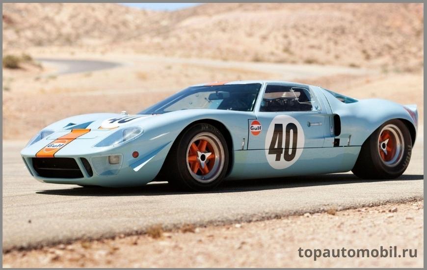 Автомобиль Ford Gulf GT40 Mirage Lightweight Racing Car